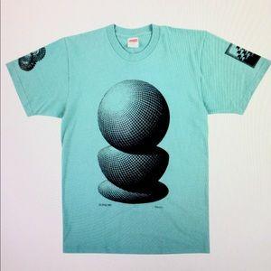 NWT - SUPREME - M.C. Escher 3 Spheres Men's Tee